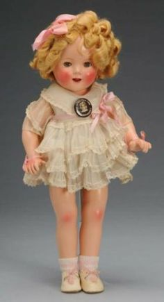 "~ Composition ""Shirley Temple"" Doll ~"