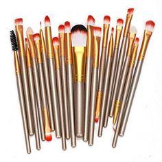 Makeup SetVovotrade 20 pcs Makeup Brush Set tools Toiletry Kit Gold * Click image for more details.