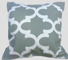 Gray Pillow Cover by SweetThingsByDee on Etsy