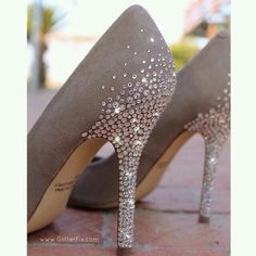 Not ballroom shoes, but stoning inspiration Customized Heels w/Swarovski Rhinestones / Glitterfix Wedge Wedding Shoes, Bridal Shoes, Wedding Heels, Bling Wedding Shoes, Old Shoes, Women's Shoes, Black Shoes, Prom Shoes, Louboutin Shoes