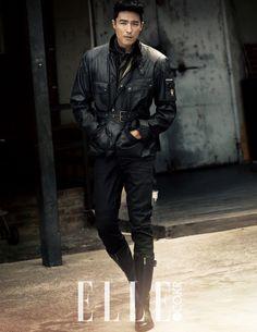 Daniel Henney & Hwang Seon for Elle Korea November 2014.