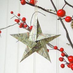 fünf-zäckiger Weihnachtsstern aus Papier selber falten