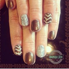 Fun fall color combo...bronze, nude and silver