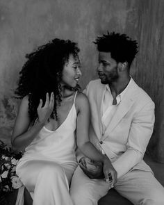 That's the look, that's the look - the look of love 🤍 gorgeous shot by Days Made Of Love Black Love, Black And White, Marriage Material, The Way He Looks, Creative Wedding Photography, Looking For Love, Black Girl Magic, Couple Goals, Engagement Photos