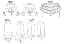 McCall's - M6770 naaipatroon Kostuum: Rok, jasje, broek en cape of schootje | Naaipatronen.nl | zelfmaakmode patroon online