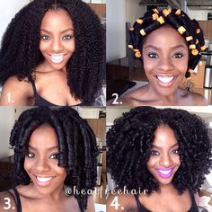 """ Step By Step layout of @ngozithestylist's Perm Rod set on our For Kurls Collection! #heatfreehair #Forkurls #naturalhair"" Photo taken by @heatfreehair on Instagram, pinned via the InstaPin iOS App! http://www.instapinapp.com (01/21/2015)"