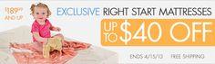 Crib Mattress Sale! Organic, eco-friendly & more. #baby @rightstart