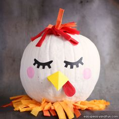 Chicken Pumpkin Painting Idea
