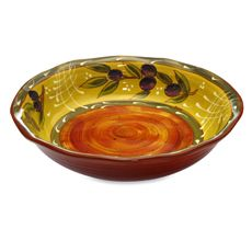 Certified International French Olives 12.5' Pasta Serving Bowl - Bed Bath & Beyond