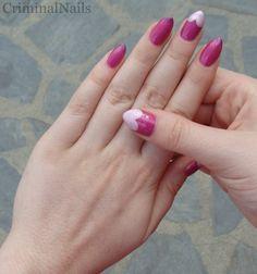Criminal Nails textured heart tips stiletto nails