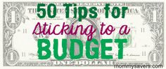50+ tips from real moms on how to stick to a budget   #budgeting