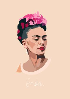 "Beautiful ""Frida Kahlo - Artist Series"" metal poster created by Anna McKay. Frida Kahlo Artwork, Kahlo Paintings, Frida Art, Pink Canvas Art, Arte Sketchbook, Mexican Artists, Poster Prints, Art Prints, Print Artist"