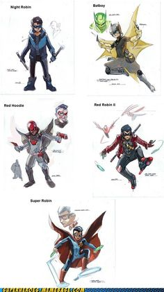 (Re-Imagining Damian Wayne) I'd read any of these immediately. It would be red robin Tim is the Jason was the first to wear it Nightwing, Batgirl, Damian Wayne, Tim Drake, Comic Book Characters, Comic Books Art, Red Hood, Mode Cyberpunk, Robin The Boy Wonder