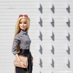 """""""The classic button-down, check! ✔️ #barbie #barbiestyle"""""""