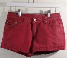 Express  shorts size 1/2 Bright Shiny  Red 62% Cotton Flat #Express #CasualShorts