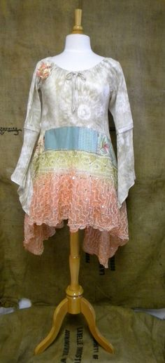 www.facebook.com/chicshackconsignmentfurnishings   Etsy: auntieschicshack coral silk sequins tie dye revival boho shirt shabby chic hippie bohemian junk gypsy style mori girl lagenlook cowgirl country girl chic free people style anthropologie inspired coachella music festival shirt romantic tunic dress patchwork beach antique lace floral ren fair plus modest resort earthtones woodland nymph lake hankie hem hi low butterfly vintage retro