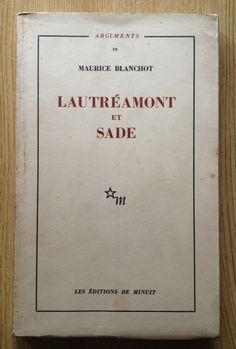 Lautreamont et Sade MAURICE BLANCHOT