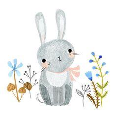 "@drawnbyrebeccajones's photo: ""Little bunny. Ended up not making it into a recent project #illustration #rebeccajones #lillarogers"""