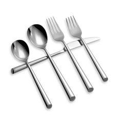 I am a fan of round-handled flatware // Cambridge® Silversmiths Austin Mirror Flatware - BedBathandBeyond.com