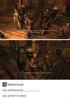 Miraak sends his regards Funny Gaming Memes, Gamer Humor, Stupid Funny Memes, Elder Scrolls Memes, Elder Scrolls Skyrim, Video Games Funny, Funny Games, Dragon Age, Tes Skyrim