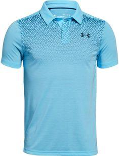 Under Armour Big Boys Threadborne Polo Shirt - Blue XS Mens Polo T Shirts, Sports Shirts, Mens Tees, Black Polo Shirt, Polo Blue, Sport Shirt Design, Under Armour, Lacoste, Sublime Shirt