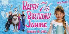 Birthday Tarpaulin Disney Frozen Theme Template