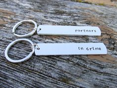 Partners in Crime Keychains for Couples or by MandarrCreations