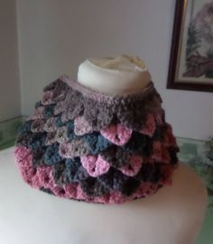 Your place to buy and sell all things handmade Scarf Crochet, Hand Crochet, Crochet Neck Warmer, Damask Rose, Crocodile Stitch, Circle Scarf, Shawls And Wraps, Cowl Neck, Gifts For Her