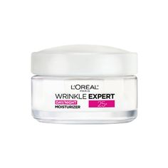 Discover the Wrinkle Expert Moisturizer 25+ by L'Oréal Paris. The anti wrinkle cream is formulated with hyaluronic acid to reduce the appearance of lines.