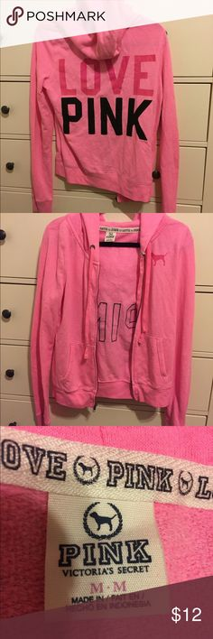PINK jacket! Lightly worn. Can be indicated by the little lint on the jacket. Otherwise, the jacket is in perfect condition. No wears or tears. PINK Victoria's Secret Jackets & Coats