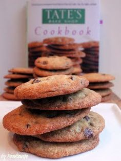 Tate's Bake Shop Chocolate Chip Cookies are the crisp type rather than the chewy type of cookie, my favorite for coffee dunking