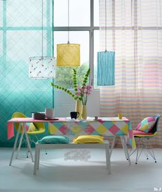 Colorful dining room