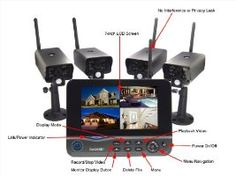 Wireless Monitor /4 Camera Surveillance System w/Portable Monitor by OnGARD OnGUARD