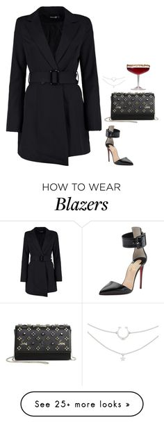 """#6751"" by azaliyan on Polyvore featuring Boohoo and Christian Louboutin"
