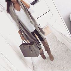 waterfall olive vest outfit- The most stylish selfie outfits http://www.justtrendygirls.com/the-most-stylish-selfie-outfits/