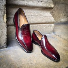 Our Wholecut loafer in a deep antique cherry patinated leather Mens Fashion Shoes, Men S Shoes, Fashion Outfits, Fashion Clothes, Fashion Ideas, Womens Fashion, Fashion Trends, Trendy Fashion, Preppy Outfits