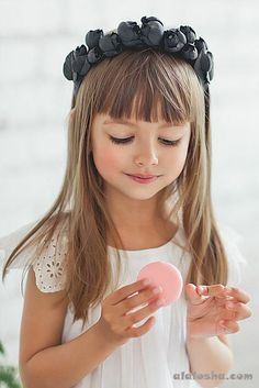 Haircuts With Bangs For Little Girls Wallpaper