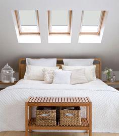 Blackout Roof Blind for VELUX Window - loft window blinds - White skylight blind