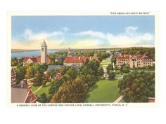 Cayuga Lake, Cornell University, Ithaca, New York Giclee Print at Art.com