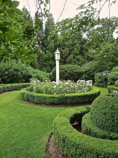 Garden focal points...Aerin Lauder gardens in East Hampton