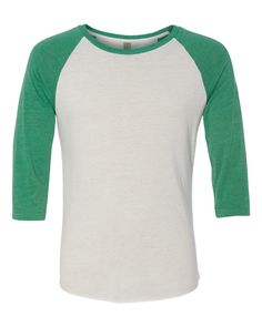 Alternative Green Eco-Jersey Baseball T-Shirt 2089e1 FREE SHIPPING