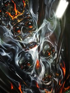 Airbrushed Crowned Skull - Painted by Mike Lavallee of Killer Paint… Skull Artwork, Skull Painting, Air Brush Painting, Car Painting, Airbrush Art, Skull Pictures, Custom Airbrushing, Skull Wallpaper, Custom Paint Jobs