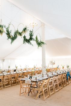 Marquee Fairy Lights Hoops Wreaths Greenery Foliage Flower Hanging Suspended Long Tables Trestle Perch Inn Wedding Captured By Katrina #MarqueeWedding #FairyLights #WeddingHoops #Wreaths #Greenery #Foliage #Flower #LongTables #TrestleTables #Wedding Marquee Wedding, Tent Wedding, Wedding Show, Formal Wedding, Rustic Wedding, Wedding Reception, Our Wedding, Accent Table Decor, Marquee Decoration