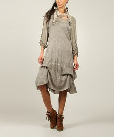 Take+a+look+at+the+Mole+Mohair-Blend+Shift+Dress+&+Scarf+on+#zulily+today!