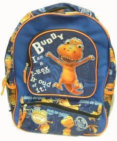 Dinosaur Train 16 inch TRex Backpack  Blue * Continue to the product at the image link.