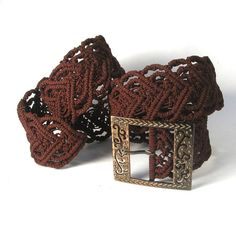 Hey, I found this really awesome Etsy listing at http://www.etsy.com/listing/92668074/macrame-belt-heart-to-heart-brown-womens