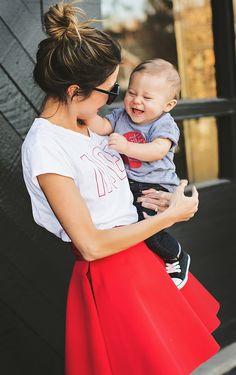 Festive mommy + mini