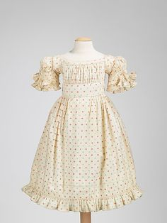 1820-1829 American Girl's ensemble (dress with pantaloons) at the Metropolitan Museum of Art, New York