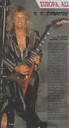 #KKDowning.#JudasPriest. Rob Halford, Primal Fear, Heavy Metal Art, Heavy Rock, Famous Musicians, Glam Hair, Judas Priest, Death Metal, Gorgeous Men
