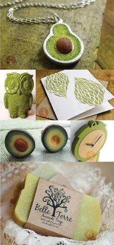 Avocado necklace - Bridesmaids' gifts - Avocado Green Wedding Inspiration